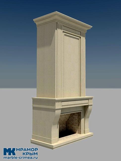 Каминный портал из известняка в Ялте