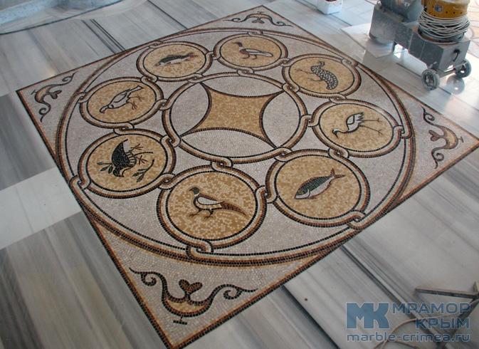 Полы из мраморной мозаики в византийском стиле